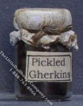 Dollhouse Scale Model Homemade Pickled Gherkins in Sealed Jar
