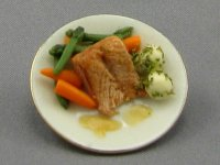 Dollhouse Scale Model Dinner Plate