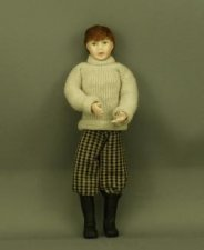 Boy in Beige Pullover by Patsy Thomas