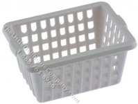 Miniature White Laundry Basket for Dollhouse