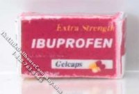 Miniature Box of Ibuprofen for Dollhouses