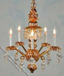 Dollhouse Scale Model Princess Abigail Chandelier