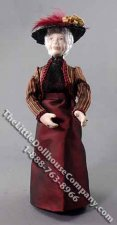 Older Woman in Dress and Hat by Patsy Thomas for Dollhouses