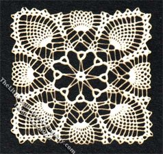 Miniature Square Laser Cut Doily for Dollhouses