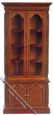 Miniature Walnut Resolute Bookcase for Dollhouses