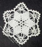 Miniature Handmade Lace Star Shaped Doily for Dollhouses