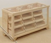 Miniature Unfinished Store Display Counter for Dollhouses
