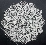 Miniature Handmade Lace Snowflake Shaped Doily for Dollhouses