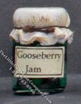 Dollhouse Scale Model Homemade Gooseberry Jam in Wax Sealed Jar