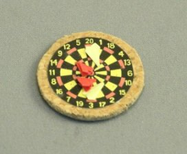 "1/2"" Dart Board with Darts by Amy Robinson"