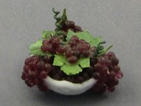 Dollhouse Scale Model Bowl with Grapes