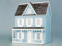 Real Good Toys: Assembled Dollhouse Blue Vermont Farmhouse Jr