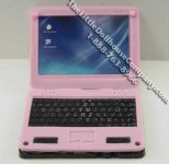 Dollhouse Scale Model Pink Laptop