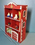 Miniature Fire House Bookcase Kit for Dollhouses