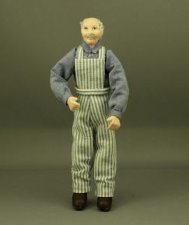 Man in a Stripe Bib Overalls by Patsy Thomas