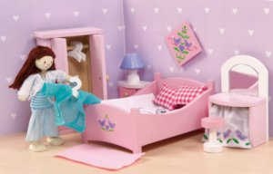 Sugarplum Master Bedroom for Dollhouses