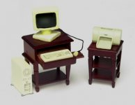 Computer Desk Set with Computer & Printer