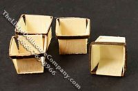 Miniature Three Small Baskets for Dollhouses