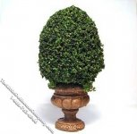 Miniature 4inch Topiary in a Round Base for Dollhouses