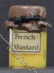 Dollhouse Scale Model Homemade French Mustard in Wax Sealed Jar