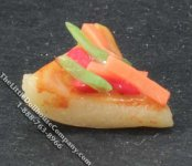 Miniature Pizza Slice for Dollhouses