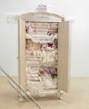 Miniature Dressed Overstuffed Blanket Closet by Danielle Designs