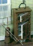 Miniature Ice Box Kit for Dollhouses