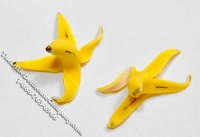 Dollhouse Scale Model Miniature Banana Peel (1/pk)
