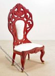 Miniature Mahogany Ornate Side Chair for Dollhouses