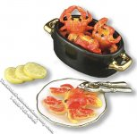 Miniature Maryland Crab Pot Set for Dollhouses