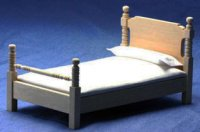Dollhouse Bed, Unfinished 1/12th one inch scale