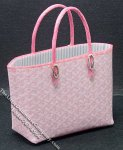 Miniature Pink Shopping Bag w/Metal Feet for Dollhouses