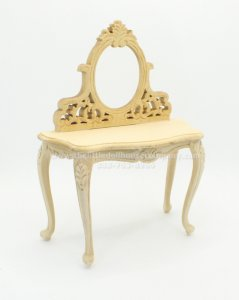 Miniature Unfinished Vanity Table
