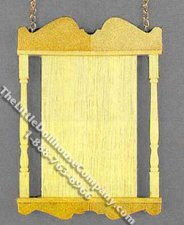 Miniature Wooden Hanging Sign with Chains for Dollhouses