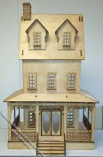 Abriana Country Cottage Laser Cut Dollhouse Kit
