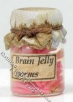 Miniature Jar of Brain Jelly Worms for Dollhouses