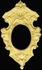 Dollhouse Scale Model Ornate Picture Frame