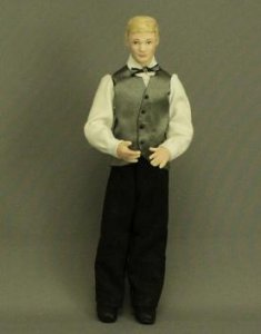 Man Doll with Bow Tie by Patsy Thomas