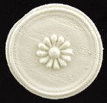 Dollhouse Scale Model Round Applique 1-1/8""