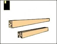 "Window Sash 1/4"" for Dollhouse Scale Models"