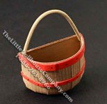 Miniature Half-Round Basket for Dollhouses