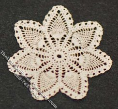 Miniature Multi-Scale Laser Cut Doily for Dollhouses