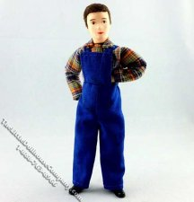 Repairperson Tom Flexible Man Doll by Erna Meyer for Dollhouses