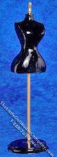 Dollhouse Scale Model Black Half Body Mannequin