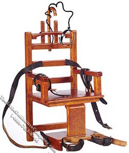 "Miniature ""Old Sparky"" Electric Chair for Dollhouses"