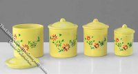 Miniature Assorted Yellow Canister Set for Dollhouses
