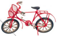 Miniature Red Child's Bicycle for Dollhouses