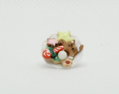 Miniature Dolls House Accessories Christmas Cookie Tray 1:12th scale size