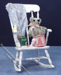 Miniature Nursery Rocking Chair for Dollhouses