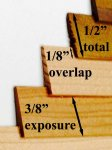 "Sq. Ft. of Red BC Cedar Overlap 1/2"" Strip Siding for Dollhouses"